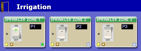 program to control timed irrigation zone valves for watering lawns and gardens with x10
