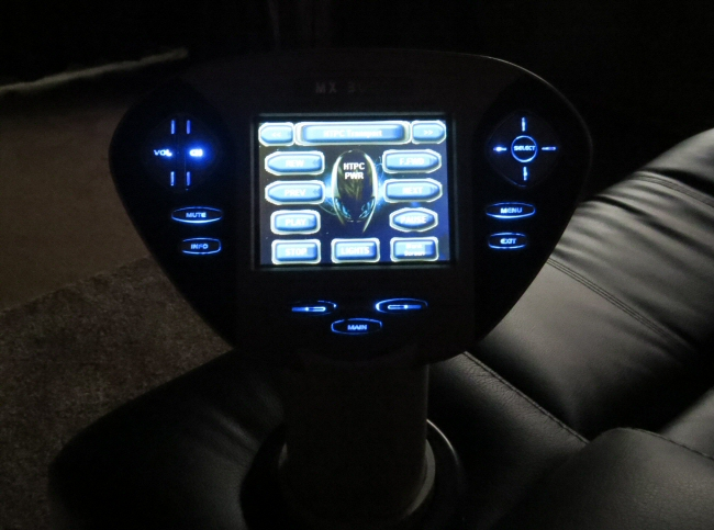 The Ultimate Home Theater Uses Our Curtaincloser System With Mx3000 Remote