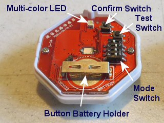 sun sensor for blind and shade motor - switch and adjustment layout